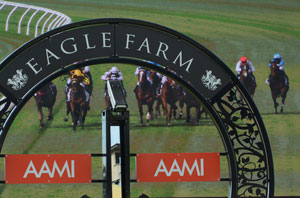 Eagle Farm racing home straight